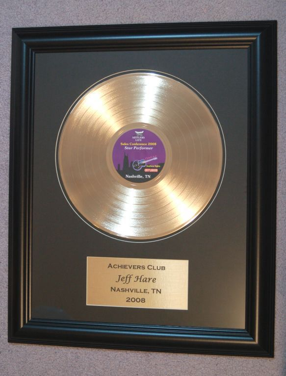 framed gold record award