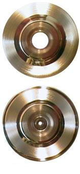 7 inch gold record blanks, large and small hole